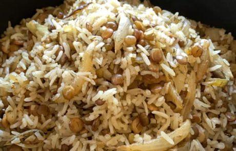אורז עם עדשים ומאש