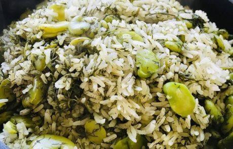 אורז עם פול ושמיר טעים
