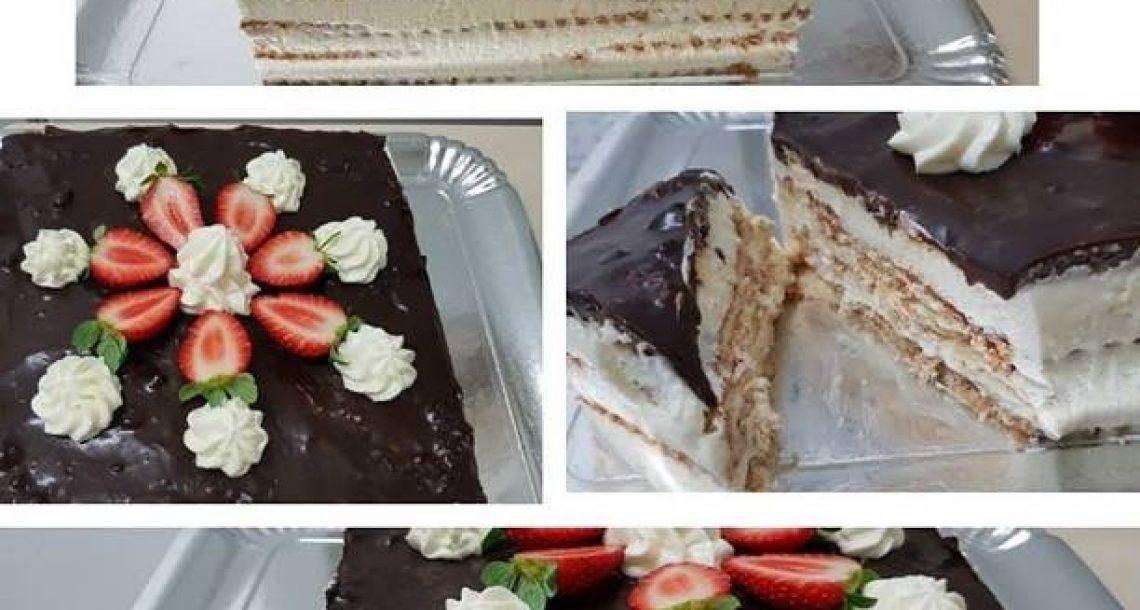 מלכת השבת – עוגת ביסקויטים עם גבינה ומסקרפונה