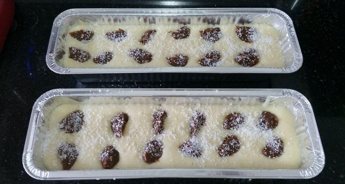 עוגת אלפחורס לפני אפיה