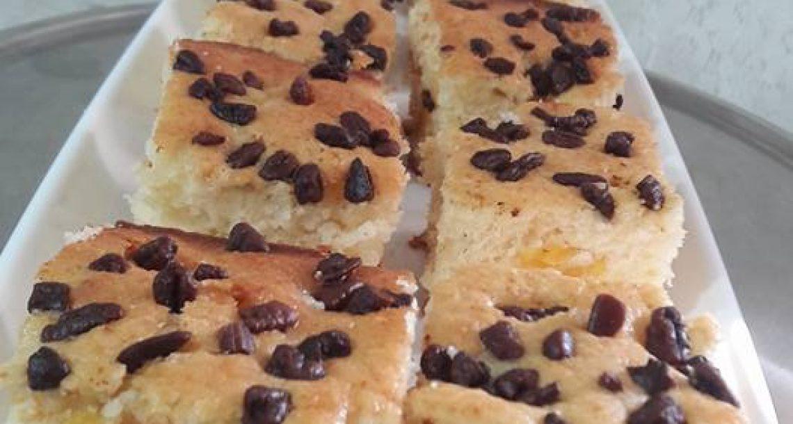 עוגת אפרקסים ללא מיקסר – הכל בקערה אחת