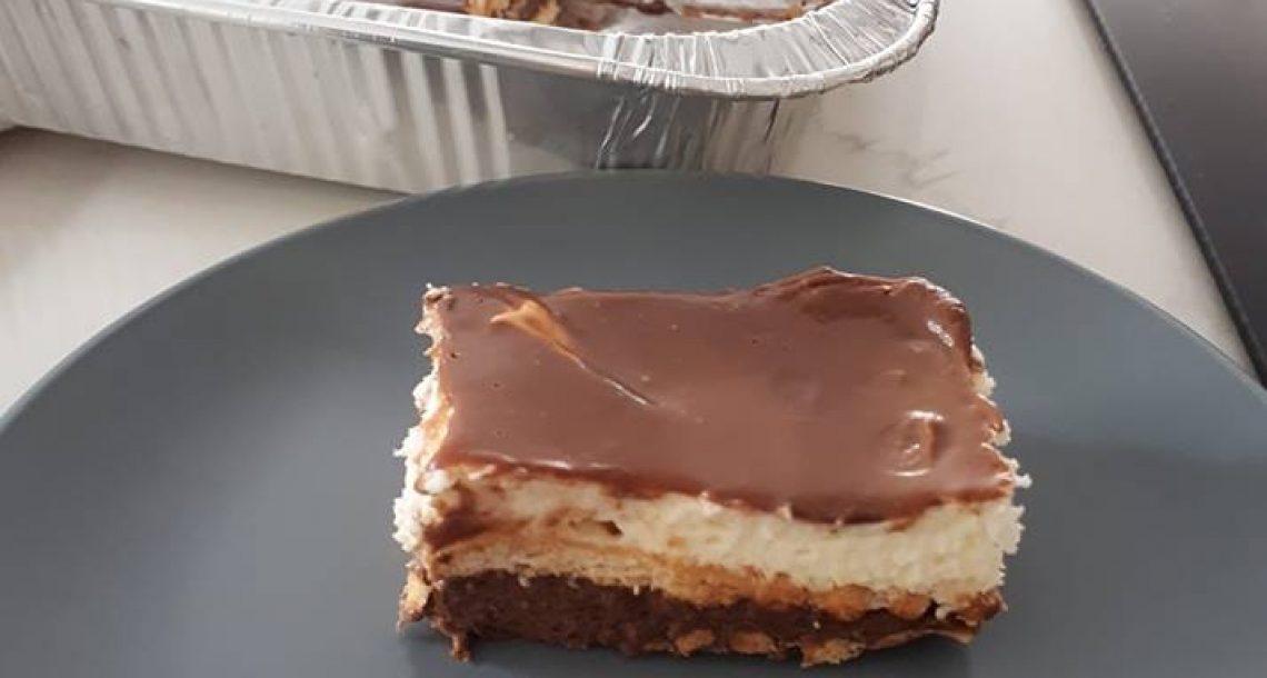 עוגת ביסקווטים לפנים