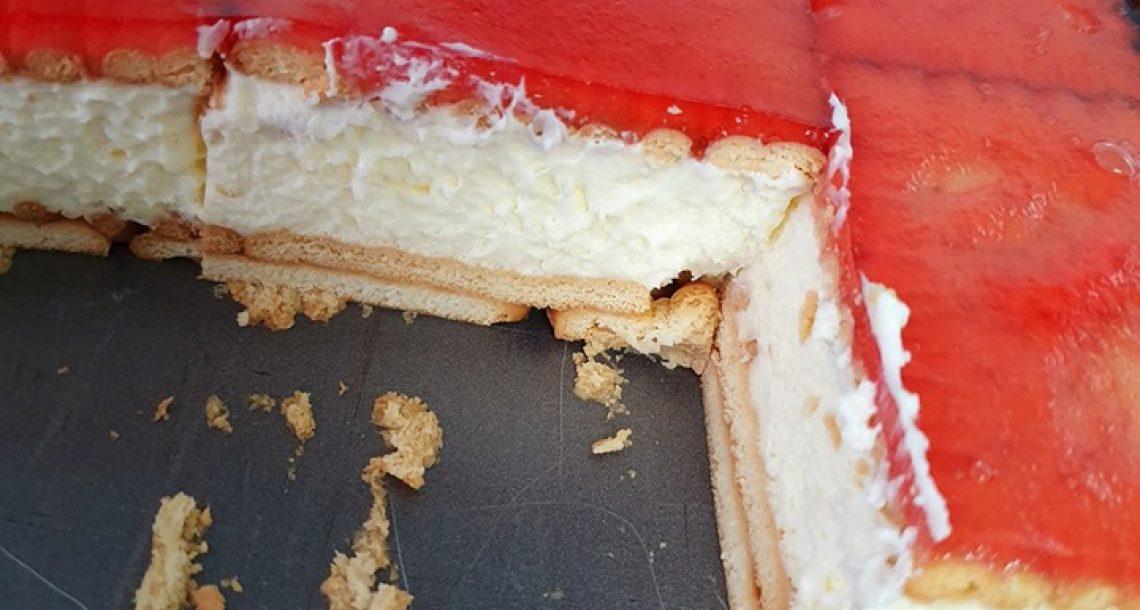 עוגת ביסקוויטים בציפוי ג'לי