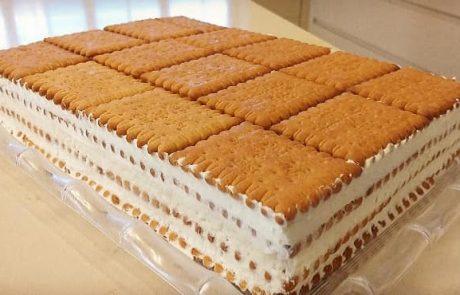 עוגת ביסקוויטים – הכי פשוטה והכי טעימה