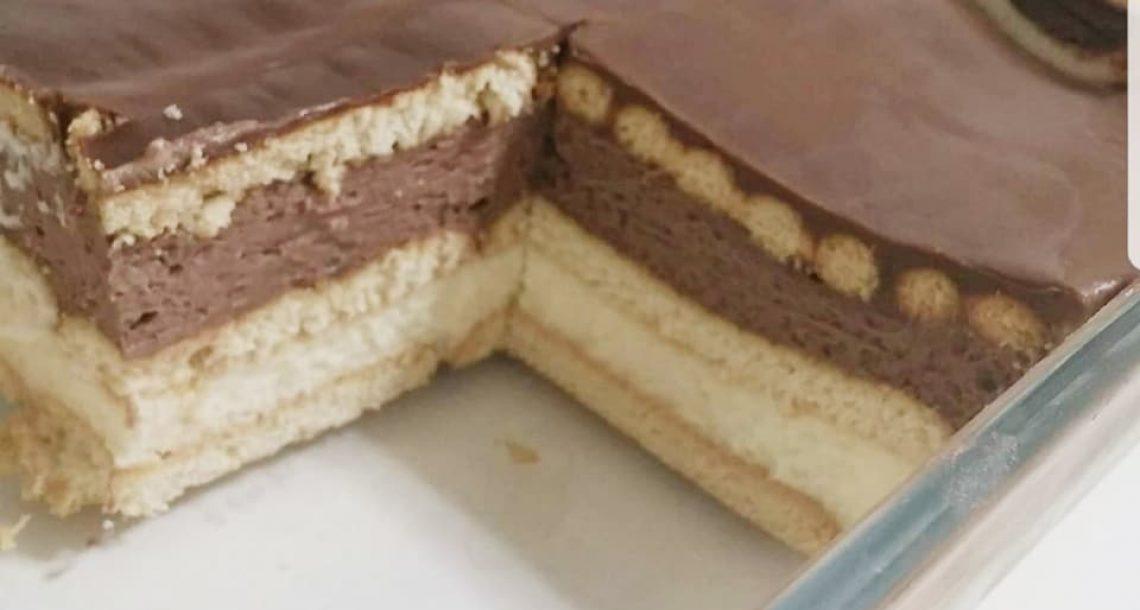 עוגת ביסקוויטים טעימה