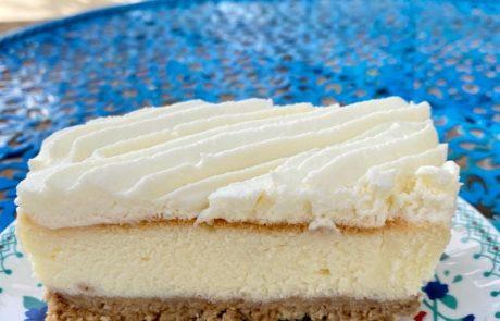 עוגת גבינה אפויה לפתיחת הבוקר