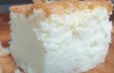 עוגת גבינה גבוהה טעימה ישרה ויפה