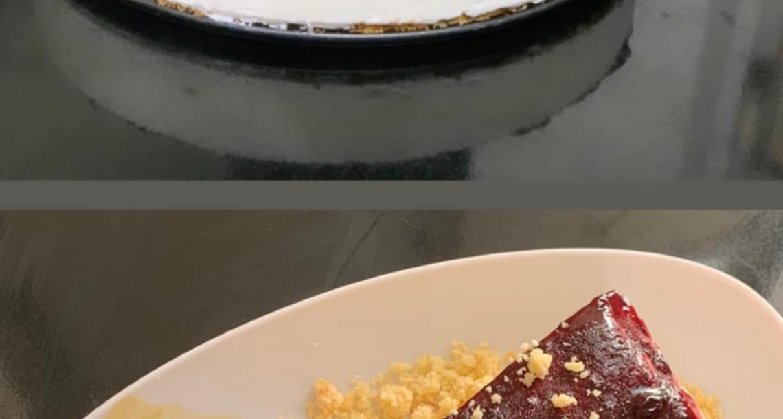 עוגת גבינה פירורים ואוכמניות – 20 דקות הכנה והיא שלכם