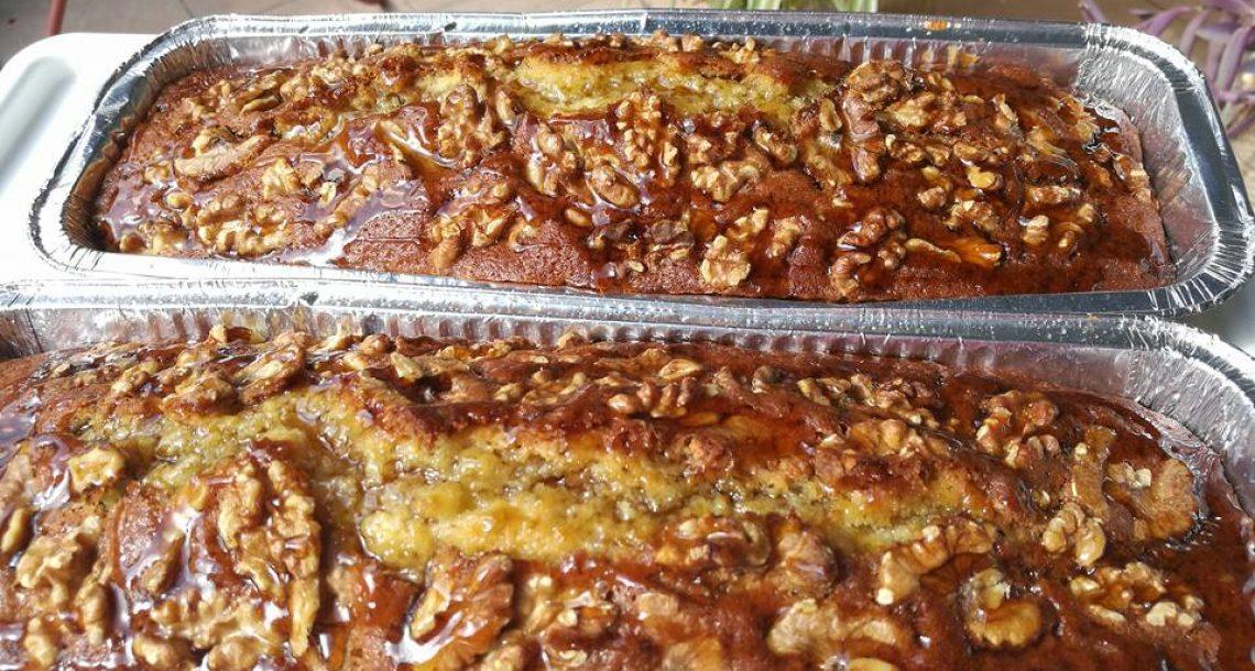 עוגת מייפל אגוזים בחושה קלה להכנה וטעימה בטרוף