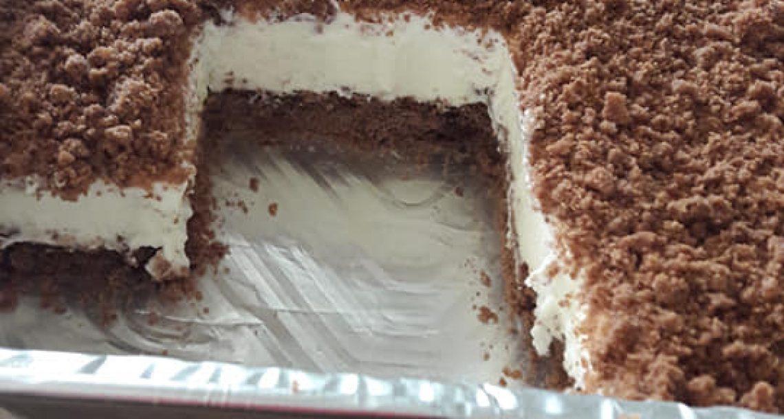 עוגת פירורים מבצק פריך