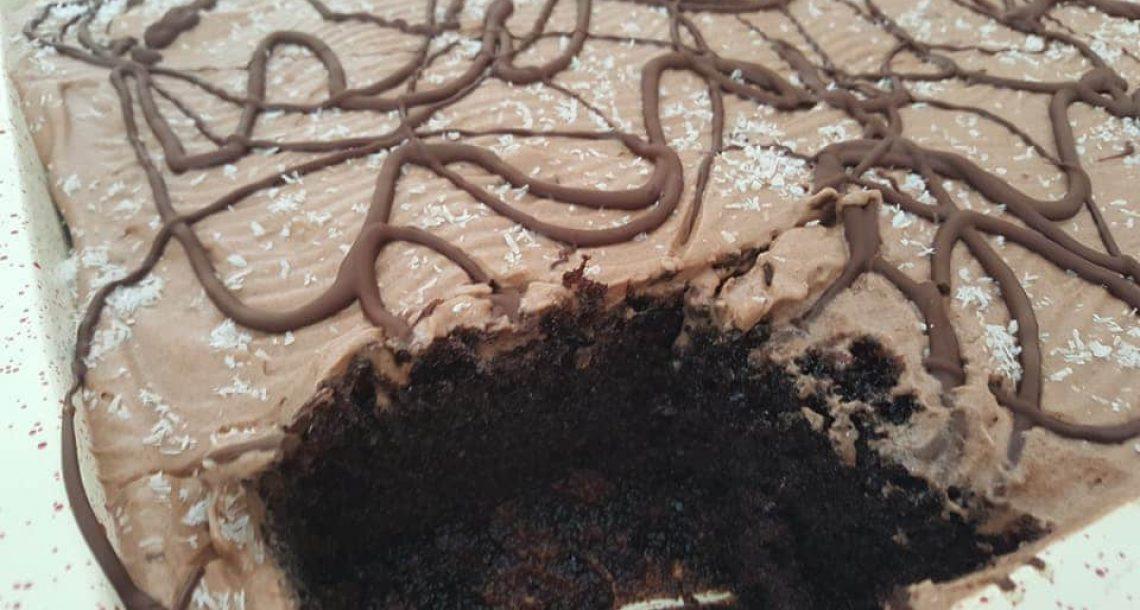 עוגת שוקולד מורטבת עם סירופ