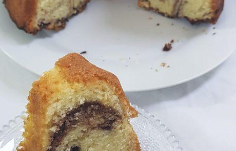 עוגת שיש עם שמנת מתוקה אוורירית ומאוד טעימה
