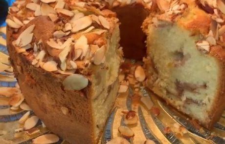 עוגת תפוחים ללא הפרדת ביצים