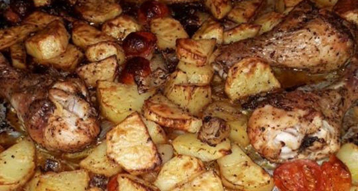 עוף בתנור טעים וקל להכנה