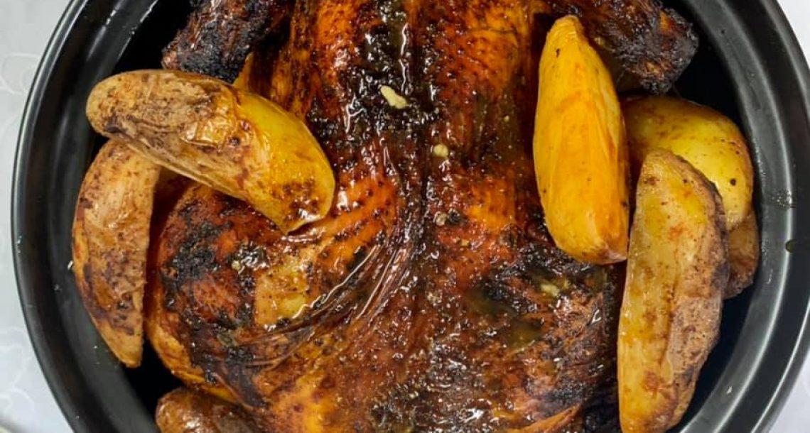 עוף חגיגי בתנור