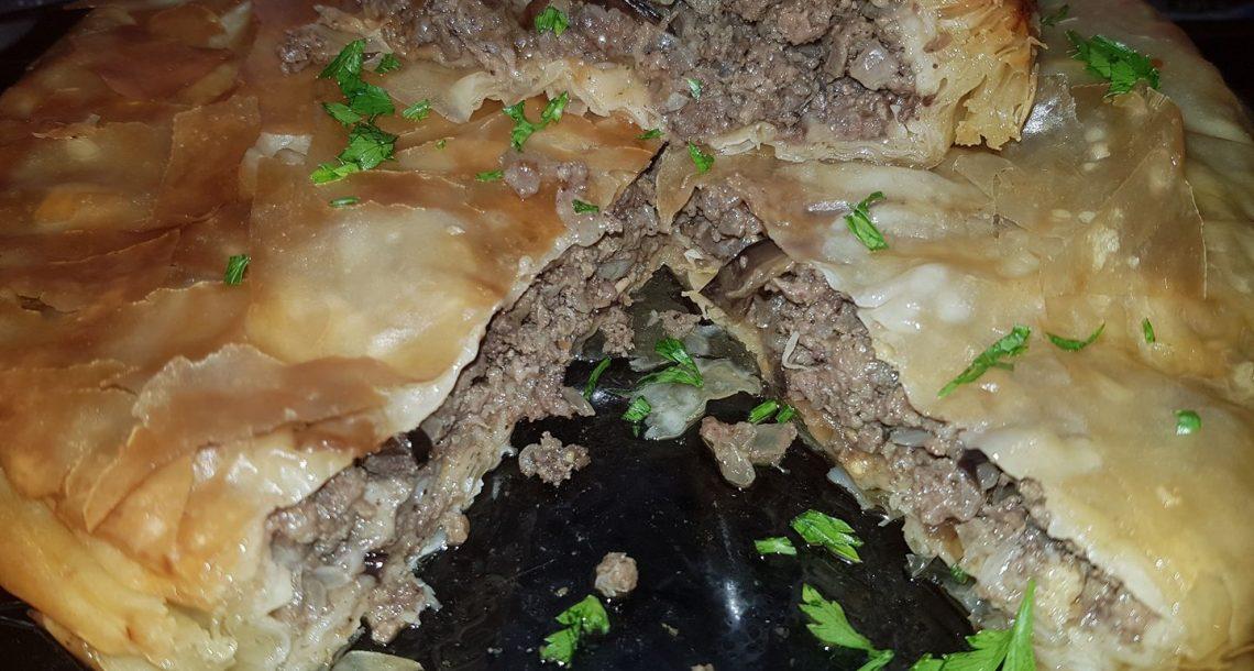 פילו במחבת כפולה במילוי בשר