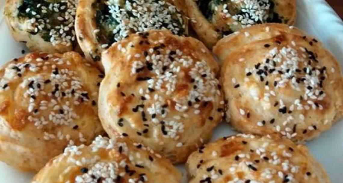 שבלולים מטריפים מבצק פריך במילוי גבינה ותרד
