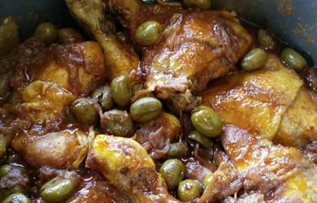 תבשיל עוף עם זיתים תוצרת בית