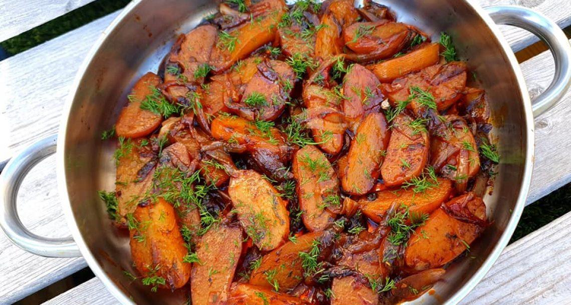 תפוחי אדמה בריבת בצלים