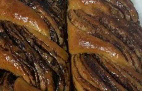 רולדות ושבלולי שמרים – קינמון שוקולד